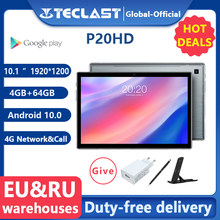 Nieuwste Teclast P20HD Tablet Android 10 Tabletten Pc 4G Lte 10.1 Inch 4Gb Ram 64Gb Rom 1920X1200 SC9863A Octa Core Tabletas Gps