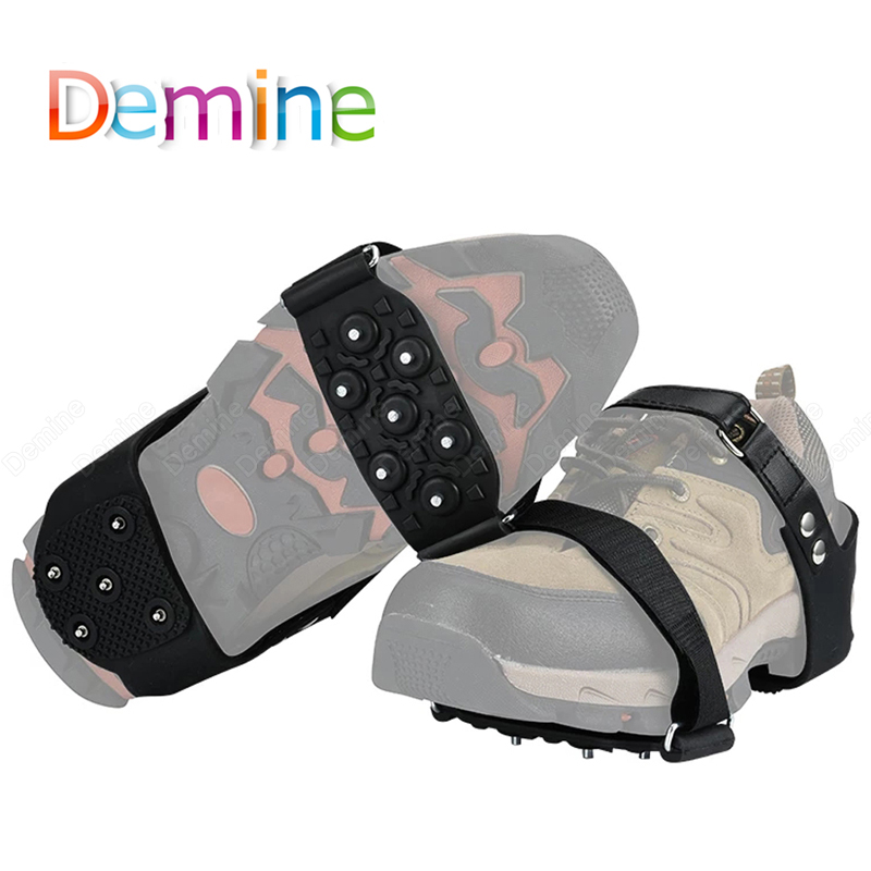 Anti-slip Crampons Snow Ice Shoe Spikes Covers Winter Boots Outdoor Hiking Climbing Antiskid Ice Gripper for Shoes Ice Cleats