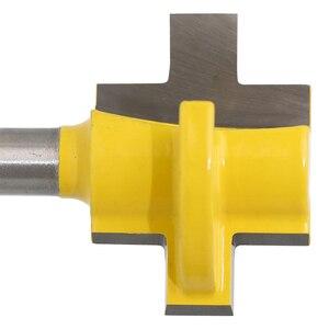 """Image 5 - 2 sztuk 1/4 """"8mm zestaw do cięcia frezu Shank Tongue & Groove zestaw bitów rozwiertaków 3 zęby t kształt akcesoria do drewna narzędzia do obróbki drewna"""