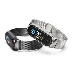 Image 4 - Mi Band 5 Strap For Xiaomi Mi Band 4 Strap Metal Milanese Stainless Steel  Compatible Bracelet Wrist Pulseira Mi band 3 Correa
