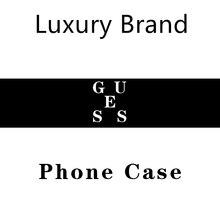 HPCHCJHM Fashion Trend GUESS Black TPU Soft Phone Case Cover