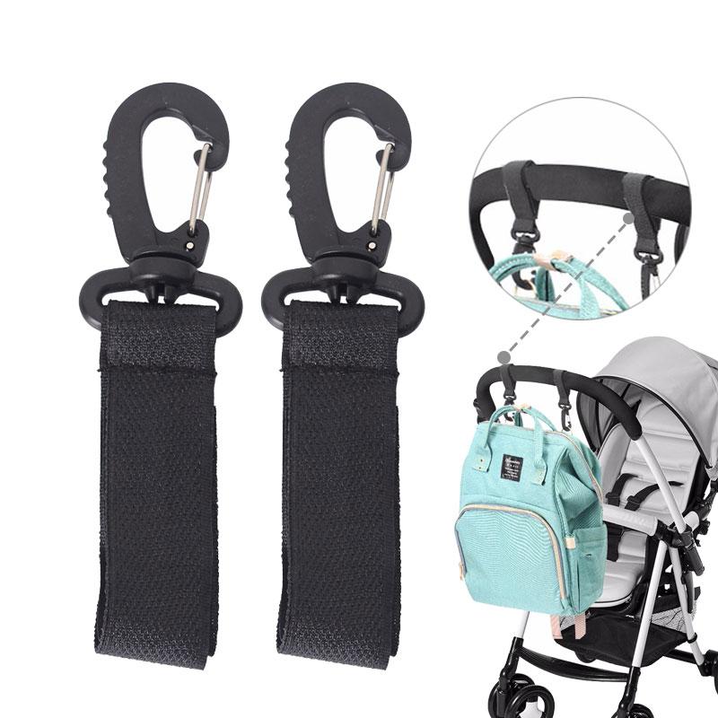 2PCS Stroller Hooks Wheelchair Stroller Pram Carriage Bag Hanger Baby Strollers Hook Diaper Bag Clip Stroller Baby Accessories