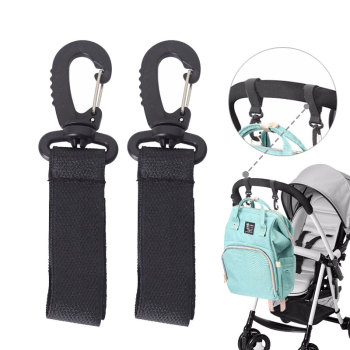 2PCS Stroller Hooks Wheelchair Stroller Pram Carriage Bag Hanger Baby Strollers Hook Diaper Bag Clip Stroller Baby Accessories