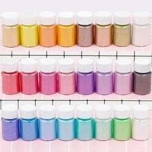 Mica em pó pigmentos naturais seguro diy arte prego gel decorativo cobertura de enchimento em resina brilhante acrílico dip pó mica 25ml hiaisb