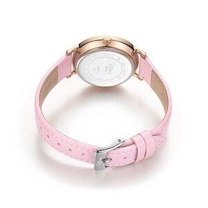 Image 4 - 2020 New Luxury Womens Fashion Trendy Wristwatch Female Disney Quartz Watch Leather Woman Watches Lady Girls Gift Mickey Clock