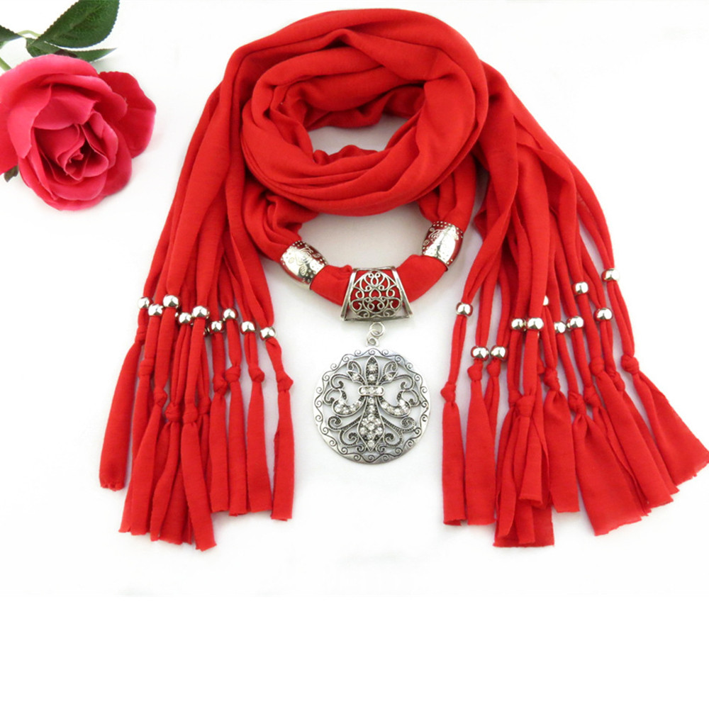 Designer 2019 Spring Scarf Luxury Brand Fashionable High Quality Neck Scarf Pendant Accessories Red Scarf In Women's Scarves