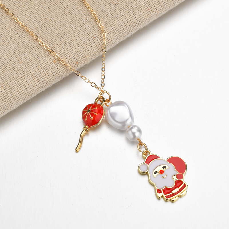Cute Christmas Santa Snowman Pendant Necklace Charm Girl Lady Chic Gift Jewelry