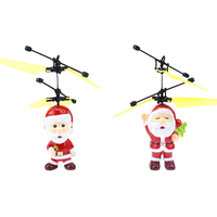 mini RC helicopter Flying inductive Aircraft Mini Drone Christmas father Santa Claus drones magic Christmas toys for  children|RC Helicopters|Toys & Hobbies -