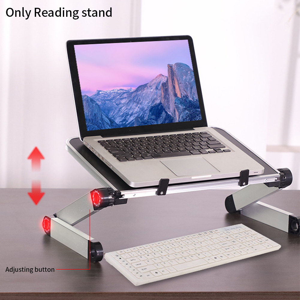 360 Degree Adjustable Book Stand Foldable Laptop Holder Reading Rest Aluminium Alloy Home School Document Study Room Desktop