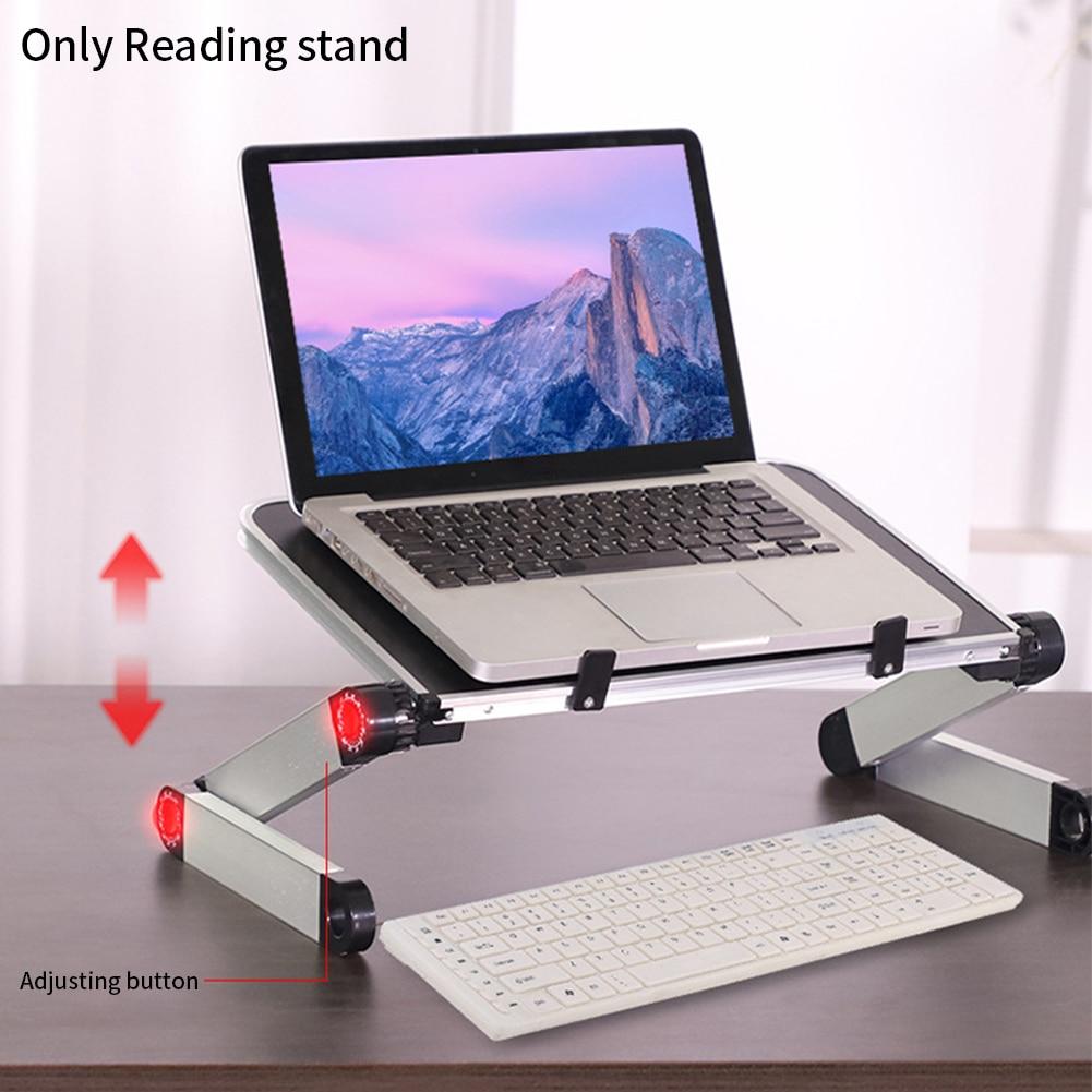 360 Degree Adjustable Book Stand Foldable Laptop Holder Reading Rest Aluminium Alloy Home School Document Study Room Desktop