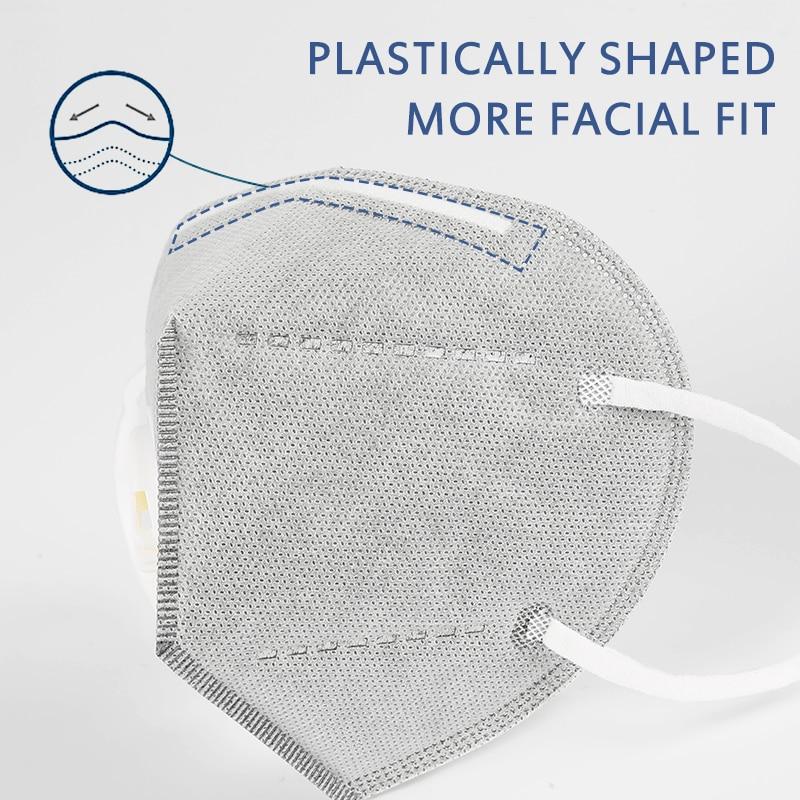 2-100 pièces KN95 FFP2 masque à valve masque respiratoire ffp3 masque protecteur 6 couches masque Anti-poussière masque de Protection visage Mascarilla 2