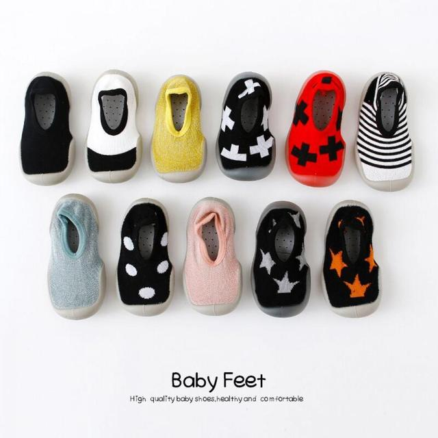 New Newborn Lovely Baby Booties Kids Anti-Slip Shoes Soft Rubber Soled Socks Shoes Baby Shoes Boy Girl Fashion Toddler Shoes