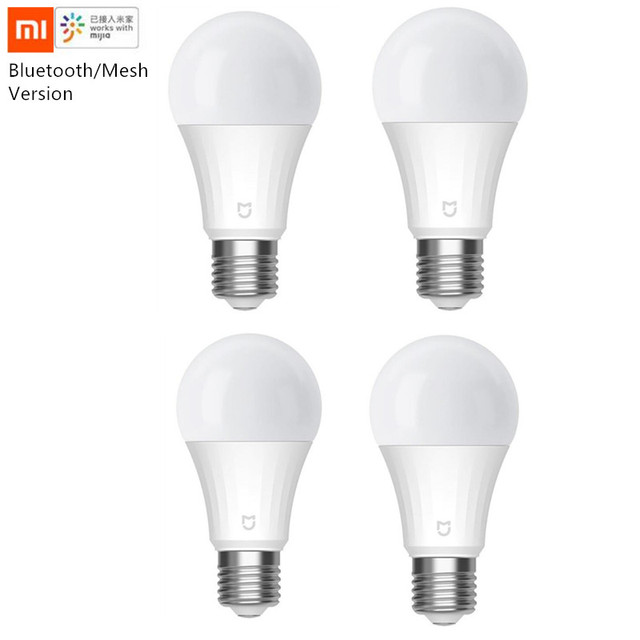 Xiaomi Mijia LED Smart Bulb 5W Bluetooth Mesh Version Controlled By Voice 2700 6500K Adjusted Color temperature for Mihome app