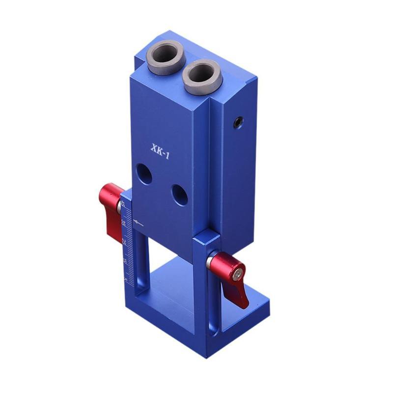 Pocket Hole Jig Kit System Wood Working Joinery Tool Set W/ Step Drill Bit Accessories Mini Kreg Style Wood Work Tool Set