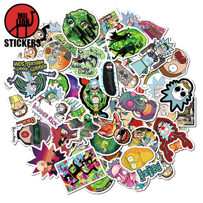 25/50Pcs Rick And Morty Stickers Cartoon For Children On The Laptop Phone Fridge Bag Skateboard Suitcase Funny Cool Sticker