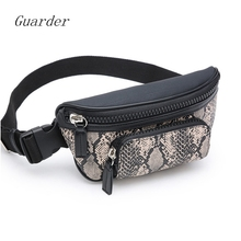 Guarder Serpentine Belt Luxury Design for Women 2019 New Waist Bag PU Leather Banana Female Phone Bags Fanny Pack GUA0010