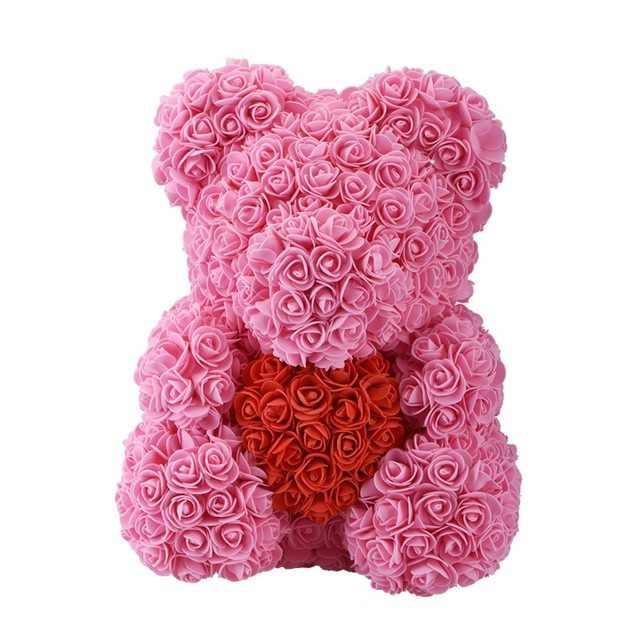 40CM köpük ayı gül bebek PE yapay gül el yapımı romantik aşk gül çiçek ayı sevgililer günü düğün yeni yıl hediye