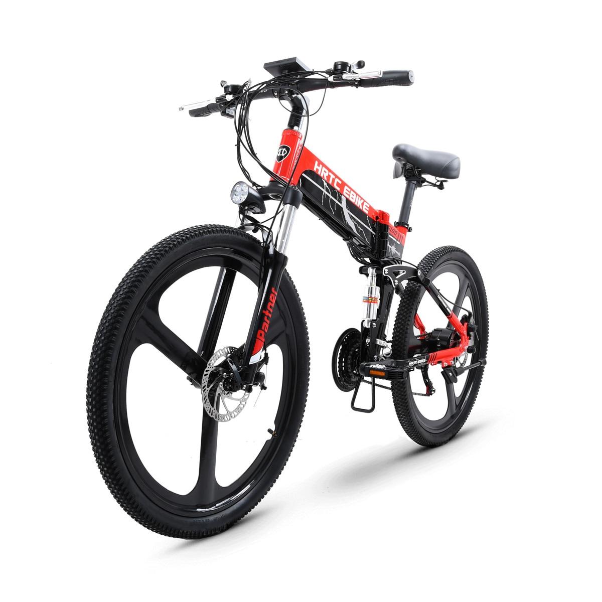 New 26inch electric mountain bike 48V hidden lithium battery 500w rear wheel motor fold emtb Soft tail suspension electric bike