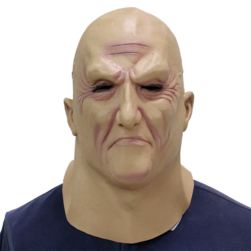 Underworld Boss Cosplay Scary Full Head Latex Mask Halloween Horror Funny Cosplay Party Mask Old Man Head Helmet Masks
