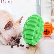 Transer Environmental Rubber Dog Ball Toy Pet Food Container Interactive Pet Train Dog Molar Teeth Clean Toys Pet Products 912(China)