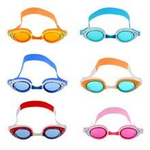 Детские противотуманные очки для плавания, регулируемые очки для плавания+ 2 штуки, затычки для ушей, очки для плавания