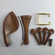 4 / 4 violin string shaft high grade red sandalwood violin string buckle 4-piece set