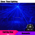 Шоу время 12 луч синий лазер Романтический Полный небо звезда синий лазер диско лазер использовать для пения танцев DJ дома вечерние KTV Рождес...