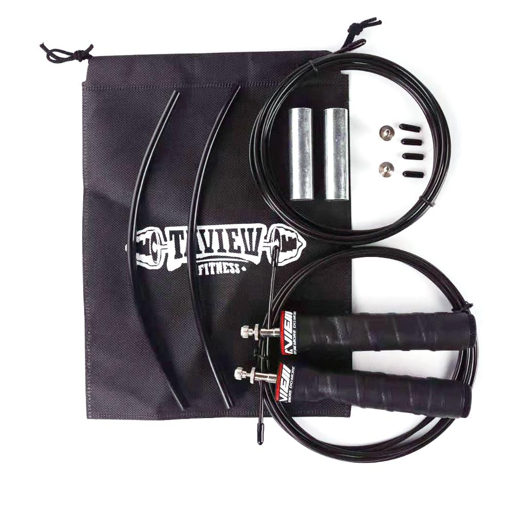 Weighted Jump <font><b>Ropes</b></font> <font><b>Crossfit</b></font> <font><b>Skip</b></font> Speed Jump <font><b>Rope</b></font> with Extra Speed Cable Ball Bearings Anti-Slip Handle for Double Unders image
