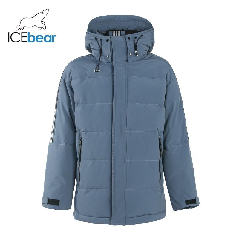 ICEbear 2019 New Winter Men's Coat High Quality Male Parkas  Brand Clothing MWD19959I icebear 2019 new high quality winter coat simple fashion coat big pocket design men s warm hooded brand fashion parkas mwd18718d