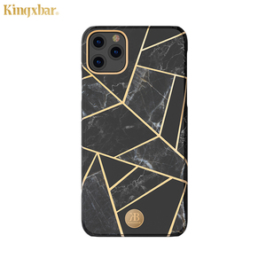 Image 5 - Original Kingxbar Back Case For iPhone 11 Pro Max Fashion Jade Stone Marble Hard Protective Cover Case With Built in Metal Plate