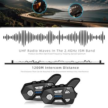 WAYXIN Bluetooth 5.0 Motorcycle Intercom  Helme 2 People 1200M  Talking Universal Pairing Waterproof Interphone Headset FM Radio 2