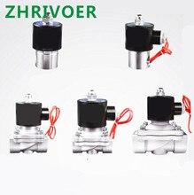 цена на DN8 DN15 DN25 Stainless steel Electric Solenoid Valve 12V 24V 220V 110V Pneumatic Valve for Water Oil Gas 1/4