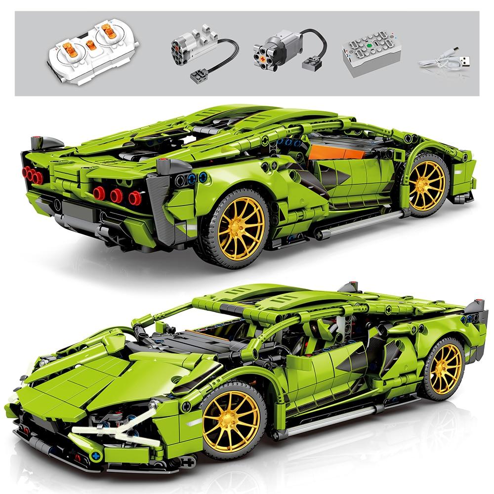 Bricks Building-Blocks Vehicle Racer Children Toys Technic Remote-Control City-Speed