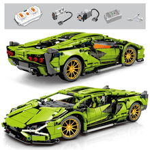 Bricks Building-Blocks Vehicle Racer Children Toys Technic Remote-Control Gifts City-Speed