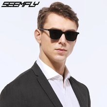 Seemfly Luxury Mens Sunglasses Men Brand Vintage Suqare Leopard Sunglass Women 2019 Designer Small Rivet Sun Glasses For Woman