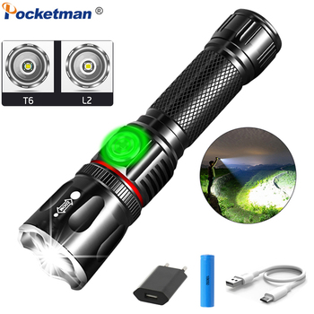 Powerful Flashlight L2 T6 LED Torch COB Flashlight USB Rechargeable LED Flashlight Zoom Torch with Magnetic Tail 18650 Battery 6 modes led xml t6 cob flashlight 8000lm rechargeable lantern torch tail magnetic water resistant by aaa 18650 flashlight