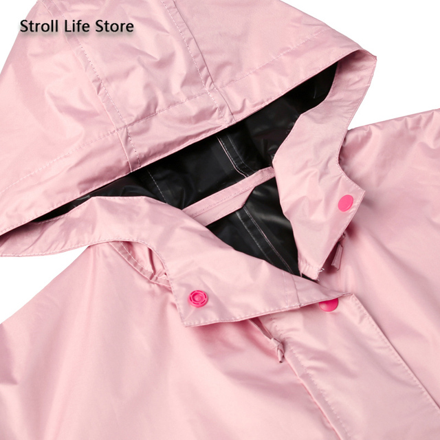 Pink Long Raincoat Women Jacket Hiking Travel Yellow Blocking Sunscreen Rain Coat Waterproof Rain Poncho Windbreaker Impermeable 2