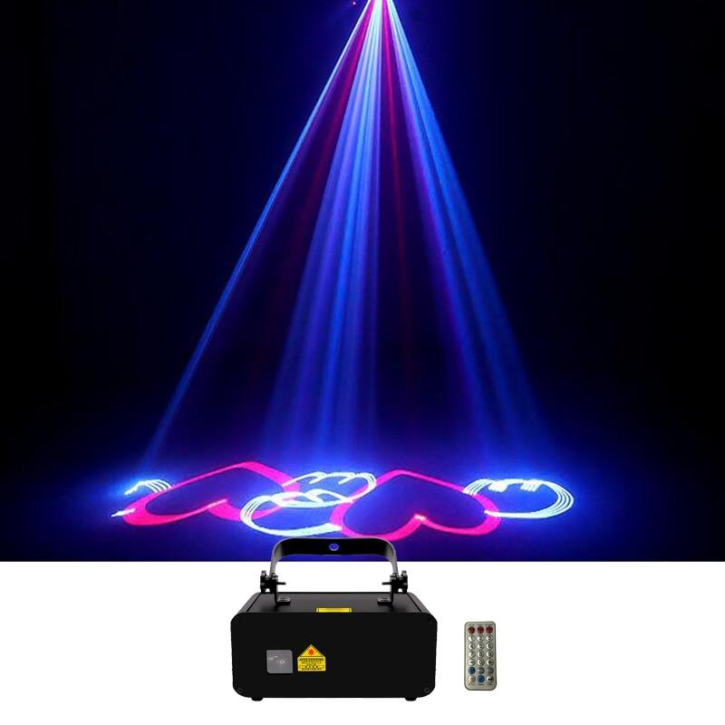 Sharelife Mini 500mW RGB Animation Laser Projector Light DMX Bluetooth Remote DJ Party Nightclub Professional Stage Lighting