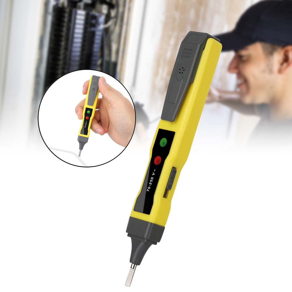 Digital Voltage Tester Pen AC/DC Continuity Meter 12-220V Buzzer Alarm Tool PUO88