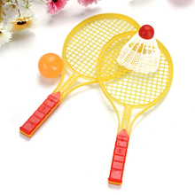 купить Tennis Set Racket  Toy Novelty Child Outdoor Sports Badminton Badminton Bat Baby Sports Parent-Child Sports Bed Toy Educational по цене 48.85 рублей