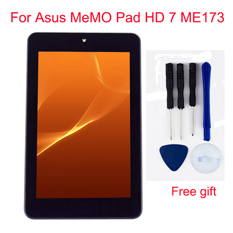 For Asus MeMO Pad HD 7 ME173 ME173X K00B K00U Touch Screen Digitizer Sensor + LCD Display Monitor Module Assembly With Frame