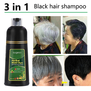 500ml Organic Natural Fast Hair Dye Only 5 Minutes Noni Plant Essence Black Hair Color Dye Shampoo for Cover Gray White Hair