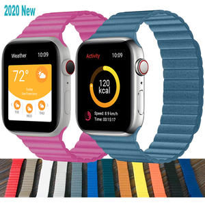 Leather strap For apple watch band 42mm Replacement Wristbands iWatch series 5 4 3 2
