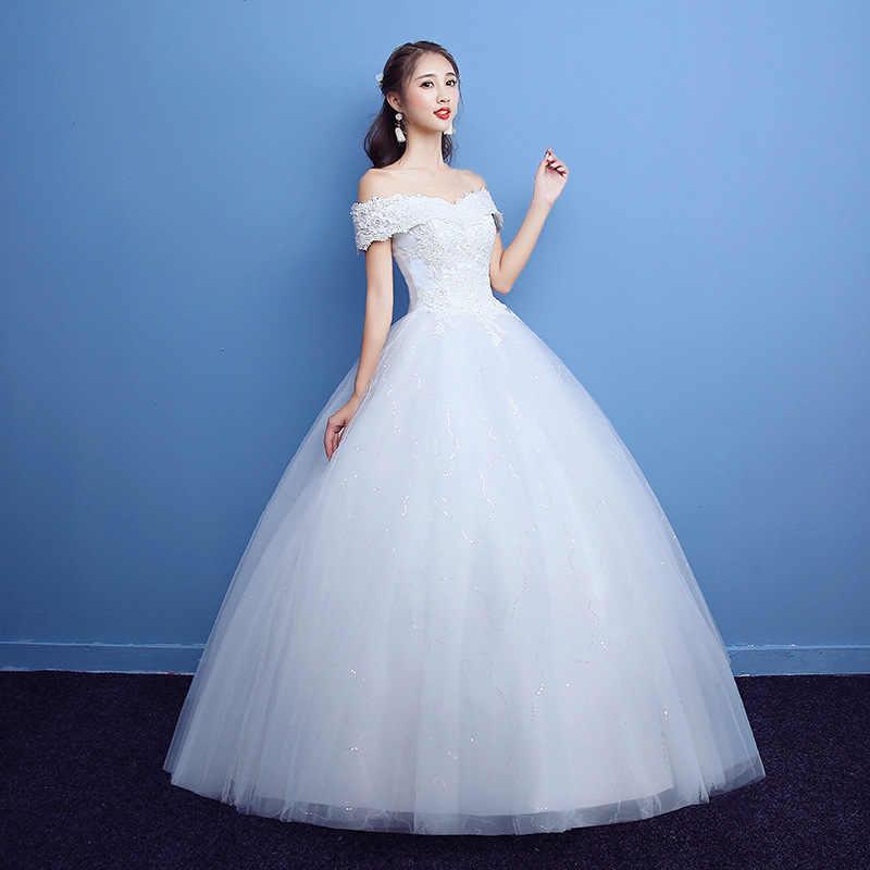 חתונה שמלה בתוספת גודל כלה כדור שמלות כלה תחרה עד חתונת שמלות רקמת שמלות