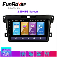 Funrover 2.5D+IPS 2 din Car Multimedia player android 9.0 car dvd stereo radio For Mazda CX7 CX 7 CX 7 2008 2015 gps navigation