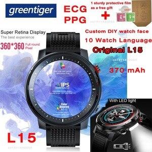 Image 1 - L15 Smart Horloge Mannen Custom Diy Horloge Ecg Ppg Hartslagmeter Zaklamp IP68 Waterdichte Oproep Herinnering Smartwatch Pk L11 l13