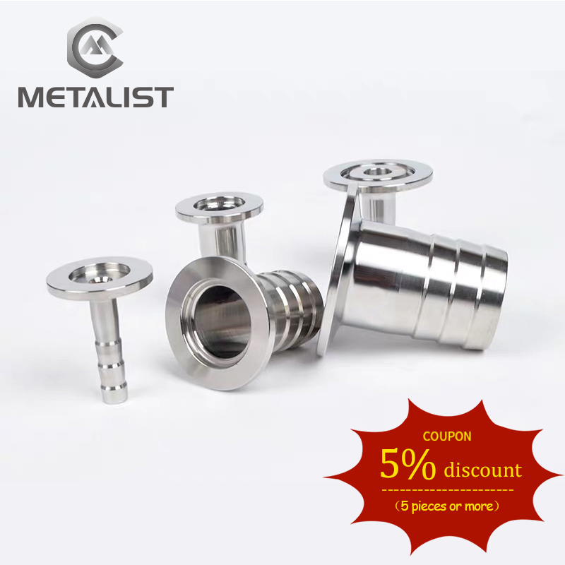 METALIST Complete Sizes OD 8MM-38MM Stainless Steel SS304 Sanitary Hose Barb Pipe Fitting  Ferrule OD 50.5mm Fit 1.5
