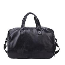 Модная Мужская и Женская дорожная сумка, чемодан, водонепроницаемый чемодан, вещевой мешок, Большая вместительная сумка, повседневная сумка из искусственной кожи