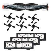 Substituição para jogos de escova de filtro neato botvac  compatível com peças para série neato botvac d75 d80 d85  70e 75 80 85  includi|Peças p/ aspirador de pó|   -