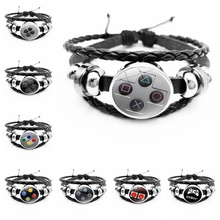 2020Hot Sale Men's Leather Bracelet Popular Game Console Button Remote Control Button Series Gift for Boyfriend First Choice